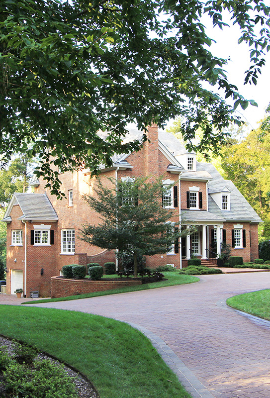 The 6,462-square-foot brick house.