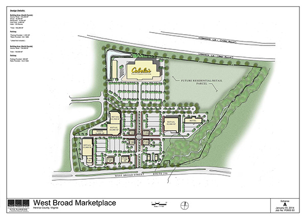 Click the image above for a PDF of the West Broad Marketplace site plan. (Courtesy of Cushman & Wakefield | Thalhimer)