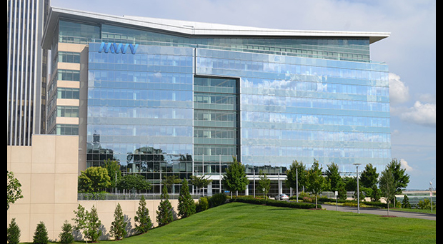 The WestRock headquarters, which was de-lettered last year after the company's merger.