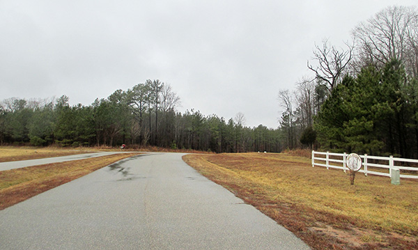 Undeveloped lots at Mill Station in Powhatan are headed for auction. (Photos by Brandy Brubaker)