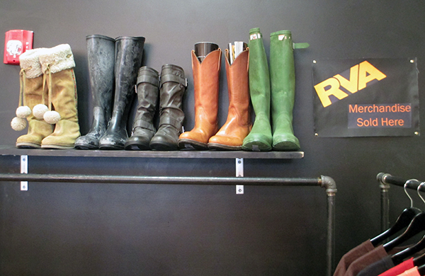 A shoe display at the recently rebranded shop.