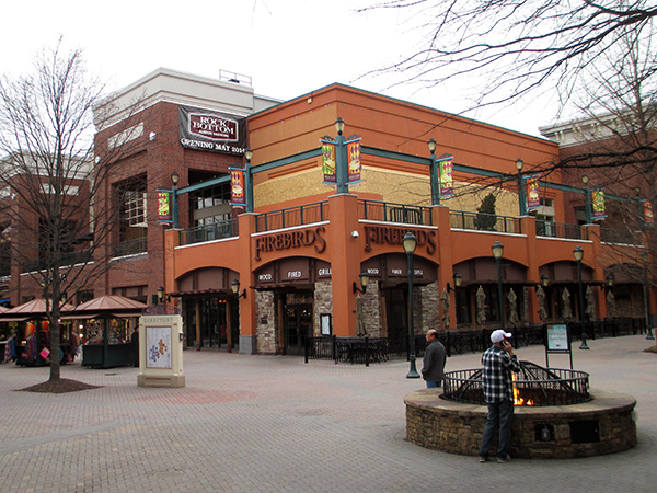 Rock Bottom Restaurant and Brewery is under construction next to the food court at Short Pump Town Center.