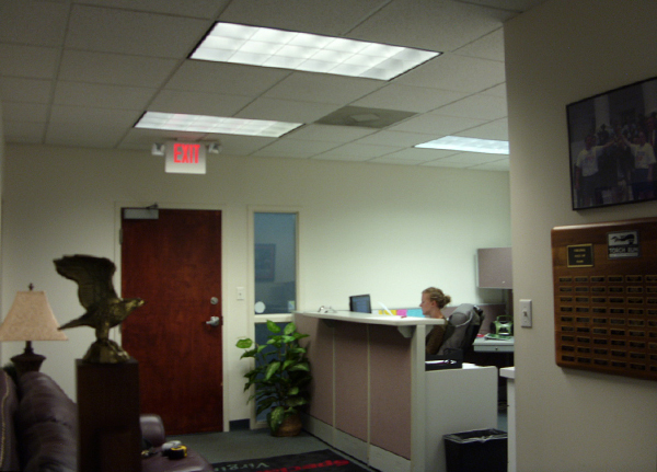 """The reception area's """"before"""" look. (Photo courtesy of Special Olympics Virginia)"""