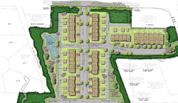 A site plan for the layout of Riverside Heights. (Photo courtesy of the developer).