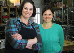 Owner Kelly Walker and chocolatier Kate Hinesh.