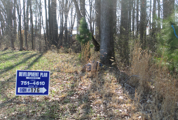 The site for the proposed hotel. (photo by Burl Rolett)