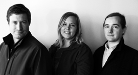 Owners Brad Hemp, Brittany Anderson and Nathan Conway. (Photo by Michael Thompson.)