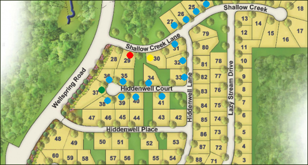 A map of phase 1 of the development. (Photo courtesy of HHHunt).