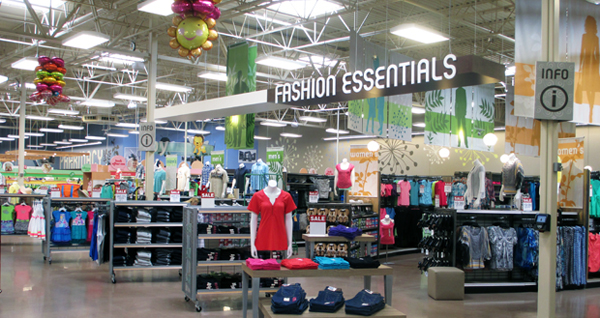 The new Kroger will look to attract shoppers for apparel, in addition to the chain's usual grocery offerings. (photos by Burl Rolett)