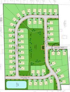 Hanky LLC plans to build 49 houses on Adams Farm Road near Lowe's in Mechanicsville. (Submitted photo.)