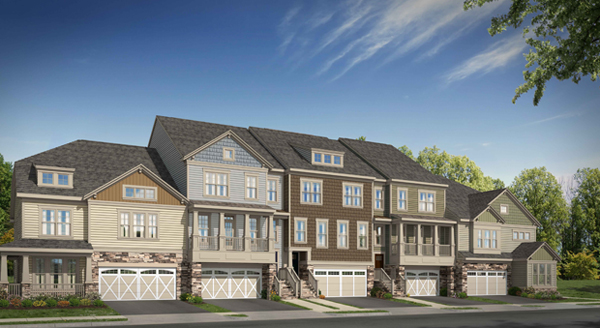 Eagle Construction of Virginia is set to build 38 townhouses at Hickory Place. (Submitted Photo.)