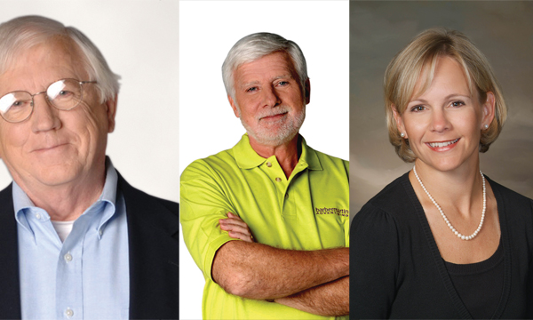 Bob Barber, Bill Martin and Robyn Deyo. (Submitted photos.)