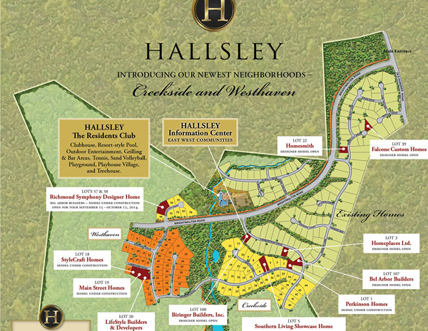 A Hallsley site plan (submitted photo)