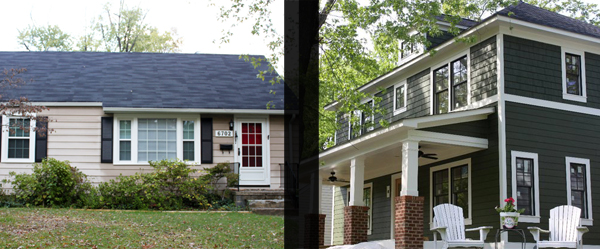 Before and after shots of 6702 Hanover Ave. (Submitted photos.)