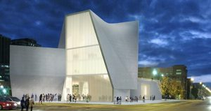 Rendering of the under-construction VCU Institute for Contemporary Art. (Courtesy Steven Hall Architects)
