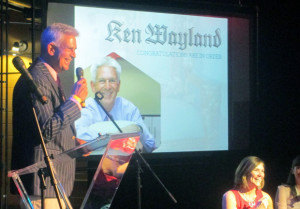 Ken Wayland received the Mike Hughes Award for Ad Person of the Year. (Photo by Brandy Brubaker.)