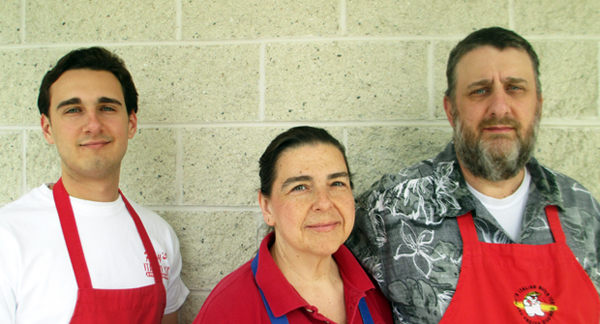 The Lambs: Zach, Paulette and Rob  (Photo by Michael Thompson)