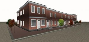 Lewis plans to recreate the block as updated single-family homes.