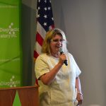 CEO Tonya Mallory speaks at the ribbon cutting on Friday.