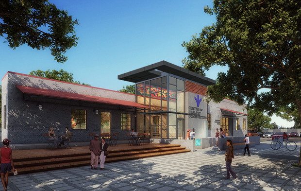 A rendering of Bon Secours' planned Center for Healthy Communities at 2600 Nine Mile Road, near the nonprofit's Richmond Community Hospital. Courtesy of Bon Secours.