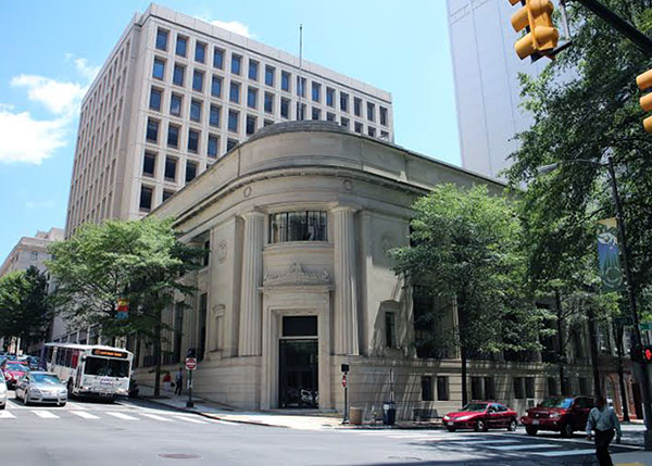 The Edison Co. plans to convert the Signet Bank building into apartments. Photos by Burl Rolett.
