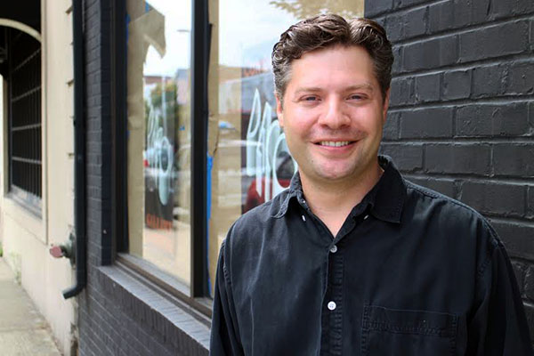 Aaron Mott will open Deco Gallery and Coffee in September. Photos by Michael Thompson.