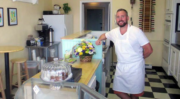 Tim Laxton will move his biscuit shop to the Fan. Photos by Michael Thompson.