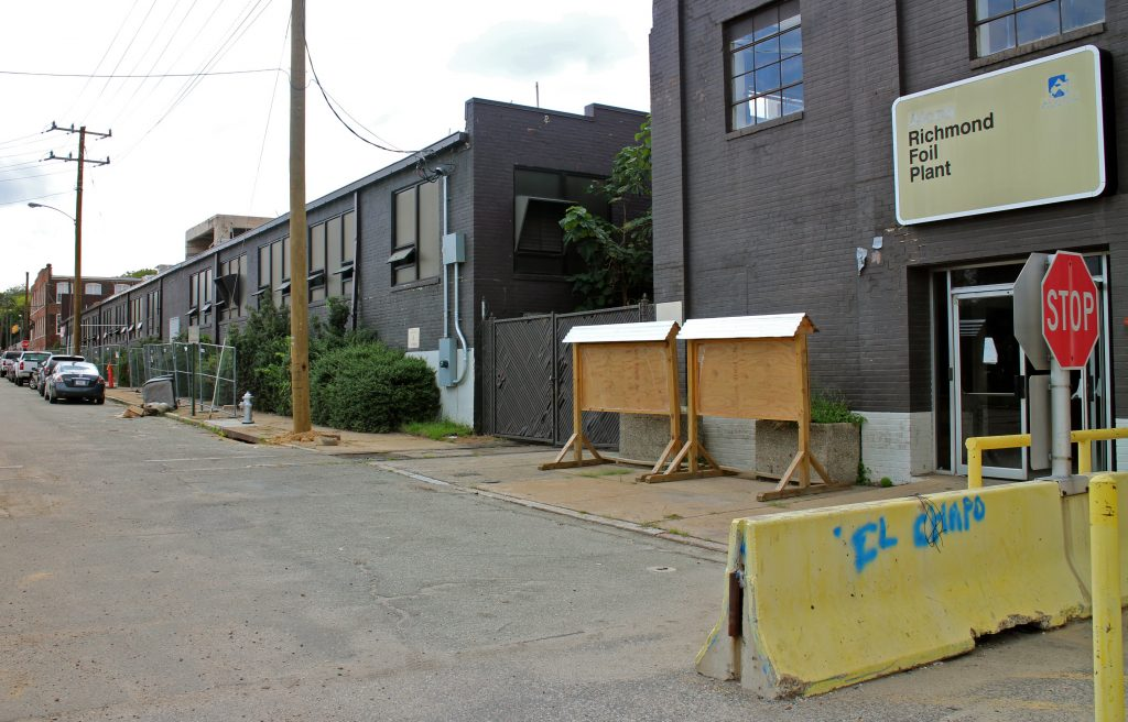 The warehouse buildings run along Bainbridge Street from 4th to 7th streets.
