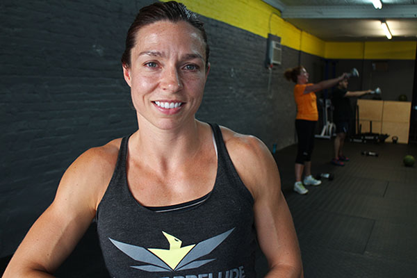Julie Murray helped open a small CrossFit gym in Church Hill earlier this month. Photos by Michael Thompson.