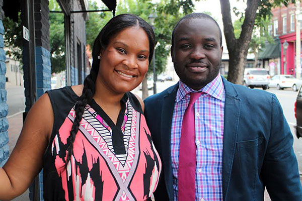 Tatia and Lewis Asare will open their second restaurant on Main Street next month. Photos by Michael Thompson.