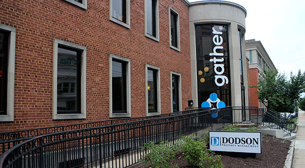 Dodson's headquarters next to the Gather coworking space at 409 E. Main St.