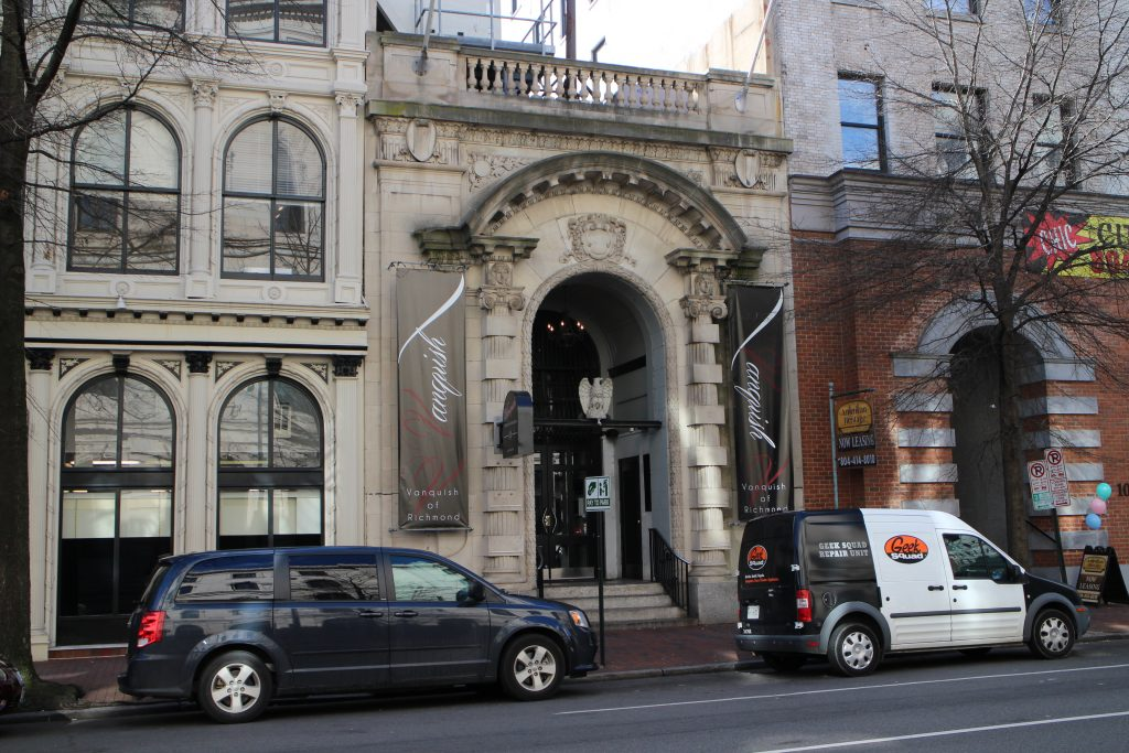 An old bank building downtown is headed for auction. Photo by Michael Thompson.