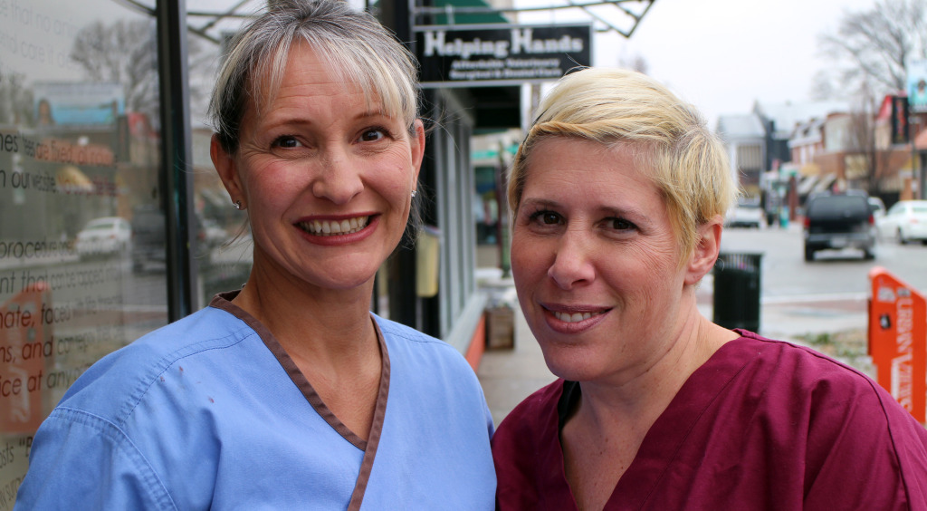 Helping Hands' Jackie Morasco (left) and Lori Pasternak are moving their vet practice out of Carytown. Photos by Michael Thompson.