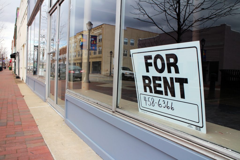 A Hopewell nonprofit wants to fill some of the downtown's vacant storefronts. Photos by Evelyn Rupert.