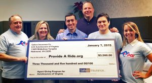 Provide A Ride, a nonprofit that gives free rides to prevent drunk driving, was awarded $3,500.