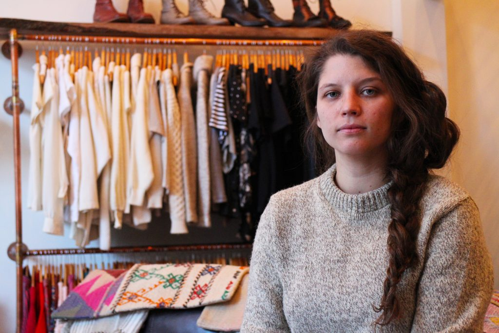 Ashley Carruthers opened a women's clothing shop downtown. Photos by Michael Thompson.