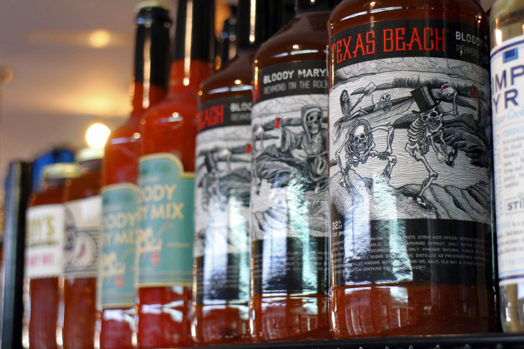 Harvest Grocery and Supply is one local retailer that carries a new line of local Bloody Mary mix. Photo by Michael Thompson.