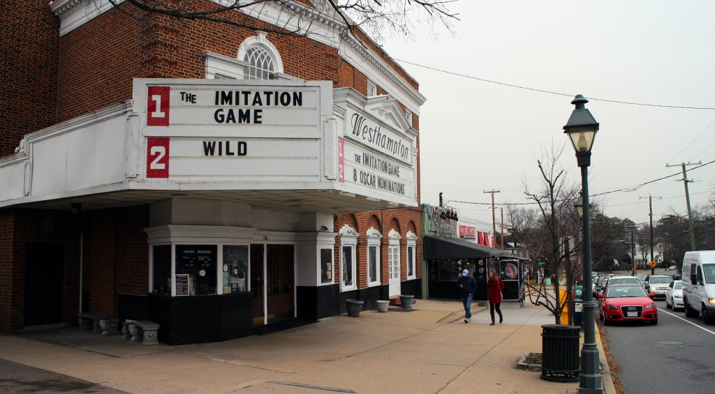 The Westhampton Theater on Grove Avenue will close at the end of the year. Photos by Evelyn Rupert.