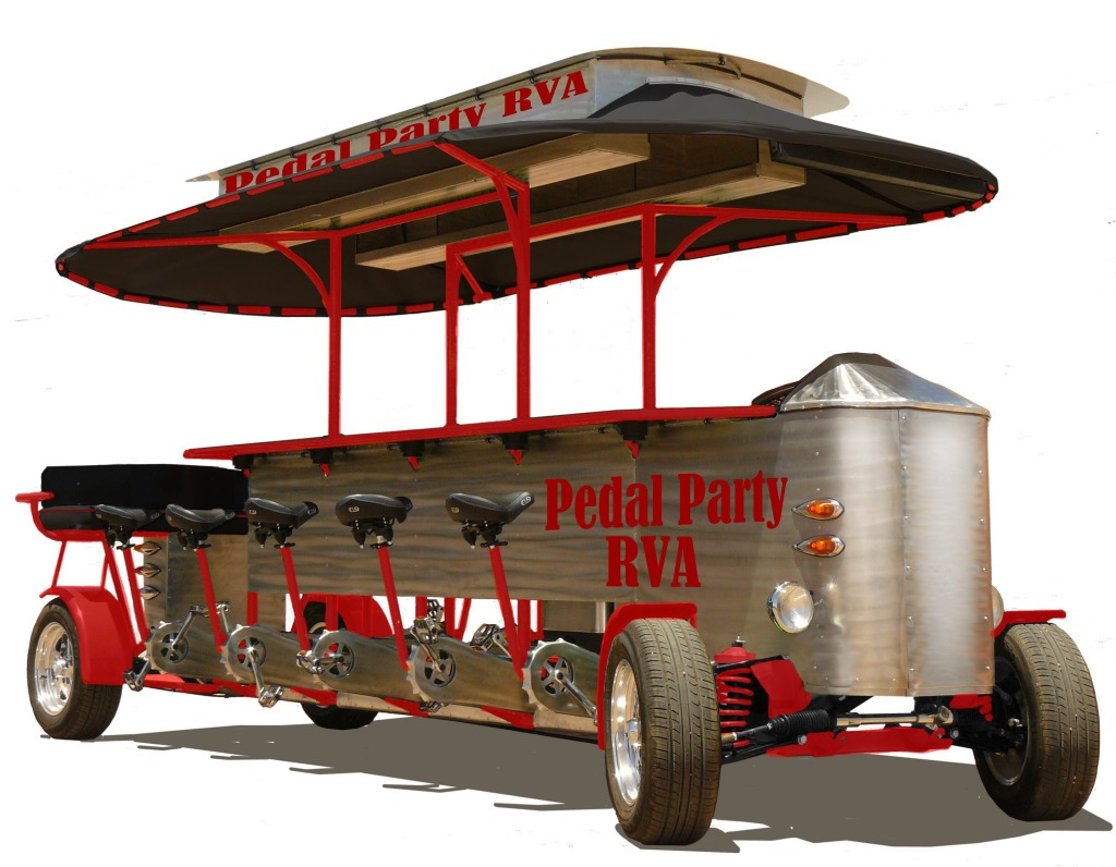Two entrepreneurs are bringing a pedaled trolley  to Richmond. Photos courtesy of Pedal Party.