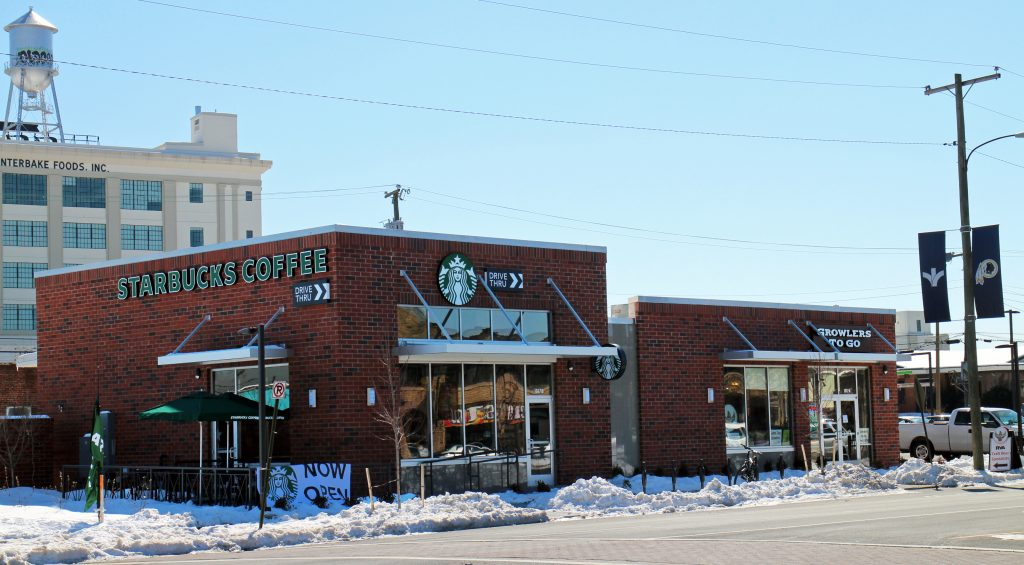 A Starbucks and beer startup have both opened on a newly developed Boulevard lot. Photos by Michael Thompson.