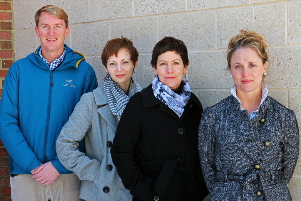 Developer John Nolde III, Heather Grutzius of 510 Architects and Andrea Levine and Kelly Blanchard of One South Realty are working on a new home project in the Fan. Photos by Michael Thompson.