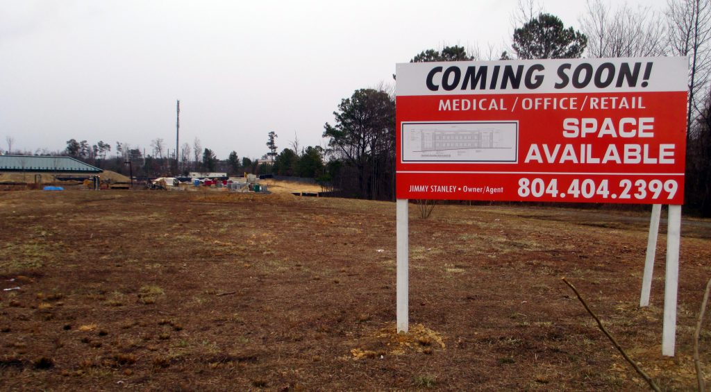 A new medical office building is going up near Short Pump. Photos by Katie Demeria.