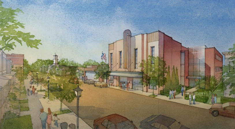 Plans for the East End Theater call for 22 residential units and a commercial space. Rendering courtesy of Sterling Bilder.