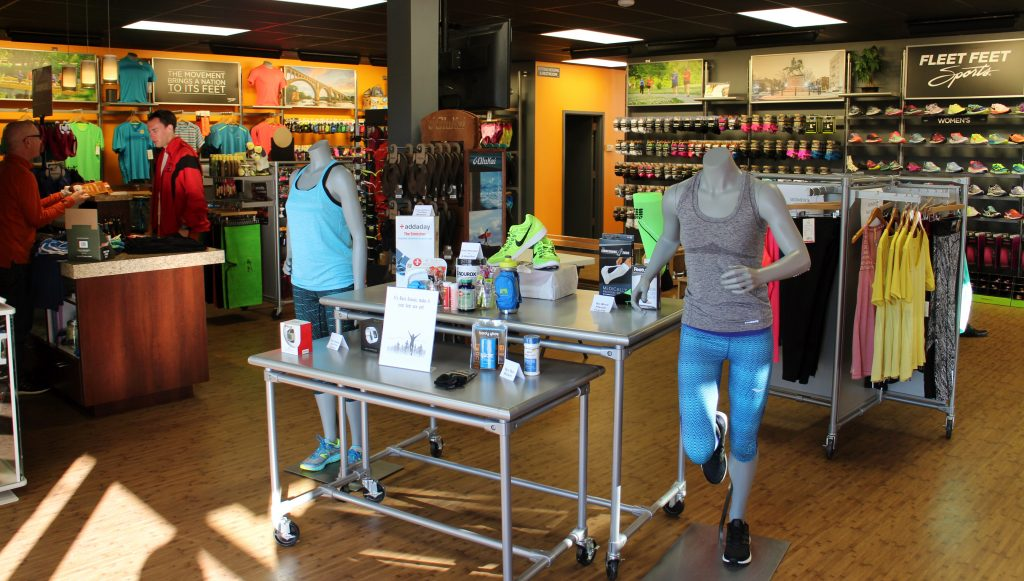 Fleet Feet Sports has one local store on Patterson Avenue. Photos by Michael Thompson.