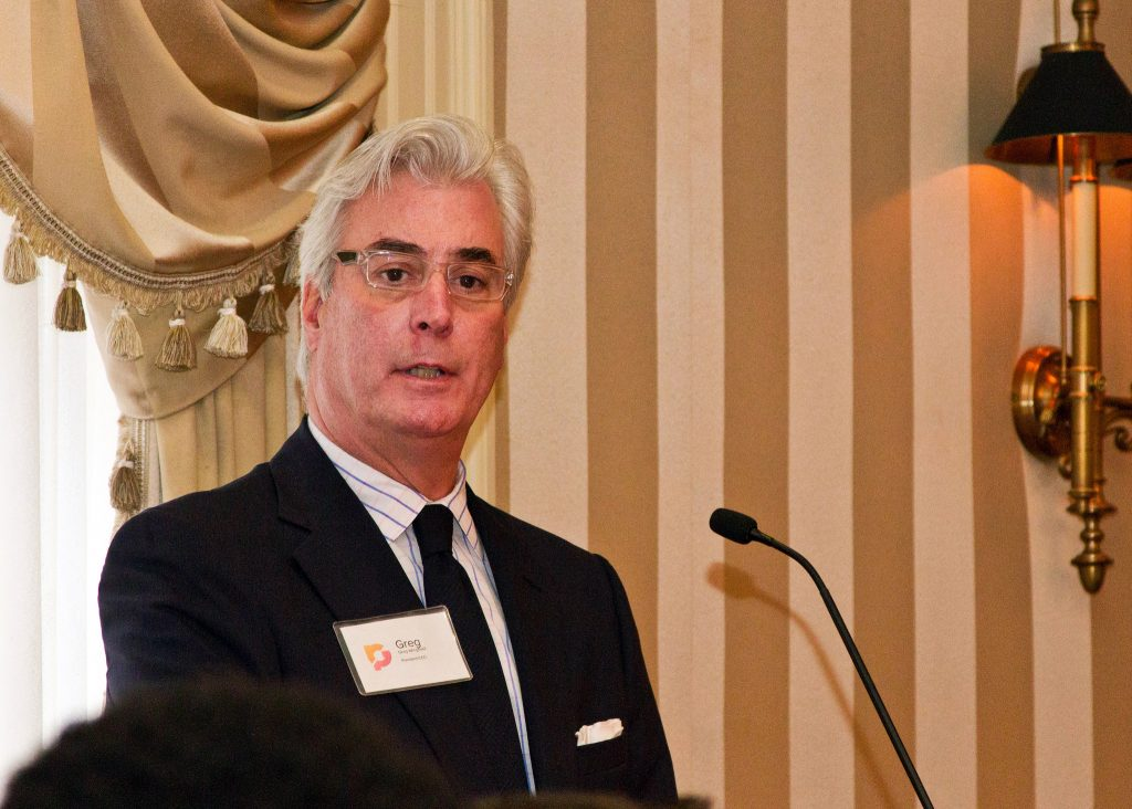 Greg Wingfield speaks at Wednesday's Greater Richmond Partnership and VCU announcement event. Photos courtesy of Greater Richmond Partnership.
