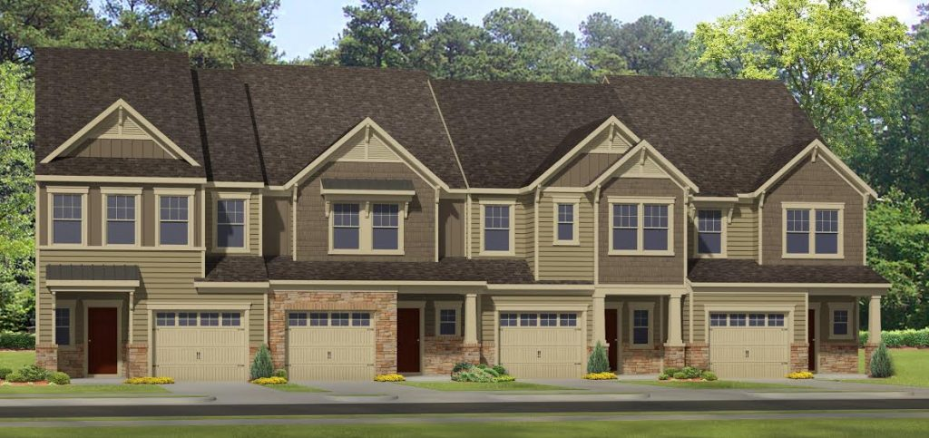 HHHunt is planning new townhomes and single-family homes in Henrico. Images courtesy of HHHunt.