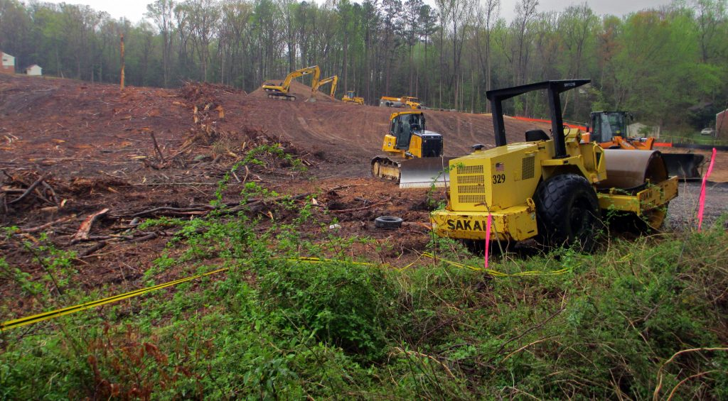 The Southside land has been cleared for the development of new townhomes. Photos by Jonathan Spiers.