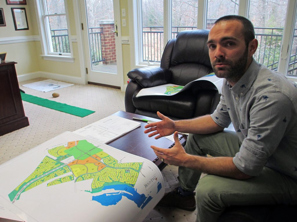 Danny Sowers explains the plans for his massive RounTrey development. Photos by Jonathan Spiers.