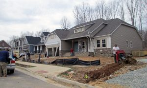Work is underway on hundreds of homes in the development.