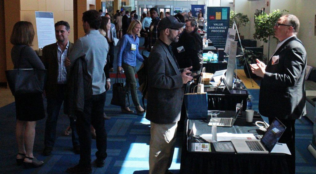 Startups and advisers met at the Capital One campus for a startup summit on Thursday. Photos by Jonathan Spiers.